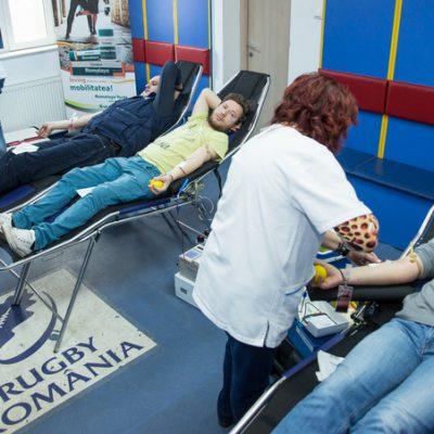 Prima donare de sange din 2018 organizata de catre Federatia Romana de Rugby va avea loc pe 16 martie