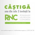 Concurs: Câștigă una din cele 3 invitații la Congresul de Nutriție din România