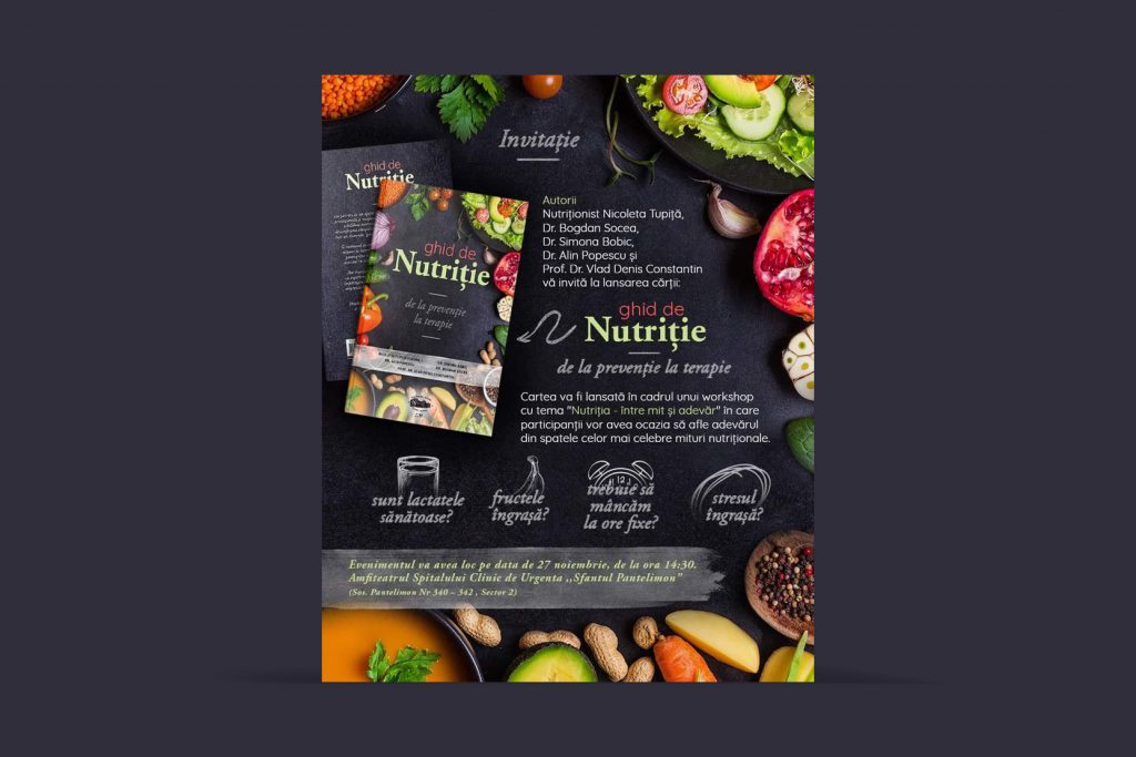 """Lansare carte """"Ghid de Nutriție – de la prevenție la terapie"""""""